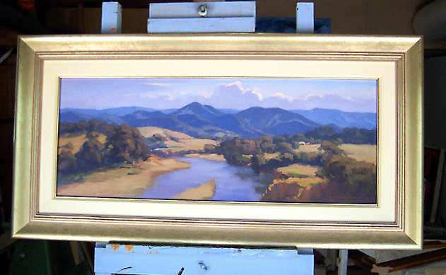 Framed painting, Afternoon Light at Bellbrook